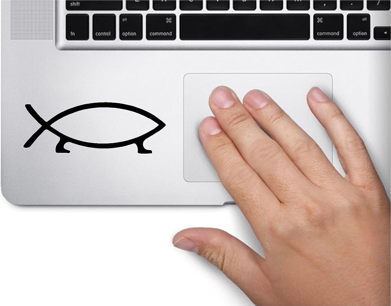 San Francisco Mall Darwin Fish Evolution Symbol Decal Skin Tra Laptop MacBook 2021 model Funny
