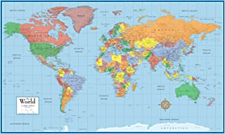 24x36 World Classic Wall Map Poster Paper Folded
