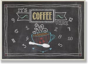 Stupell Home Décor It's Coffee O'clock Chalkboard Look Kitchen Wall Plaque, 10 x 0.5 x 15, Proudly Made in USA