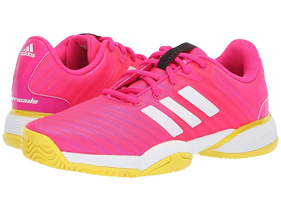 adidas Kids Barricade Tennis (Little Kid/Big Kid) (Shock Pink/White/Shock Yellow) Girl