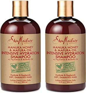 Shea Moisture Manuka Honey and Mafura Oil Intensive Hydration Shampoo 13 oz Pack of 2