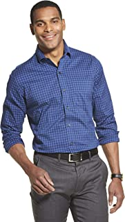 Men's Traveler Stretch Long Sleeve Button Down Blue/White/Purple Shirt