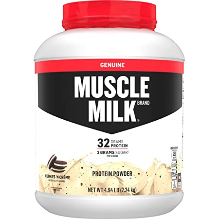 Amazon.com: Muscle Milk Genuine Protein Powder, Cookies 'N Crème, 32g  Protein, 4.94 Pound, 32 Servings: Health & Personal Care