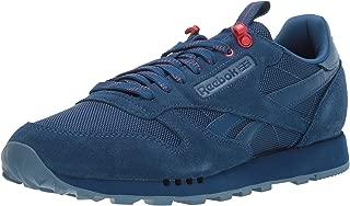 Men's Classic Leather Sneaker, bunker blue/blue slate/primal red, 11 M US