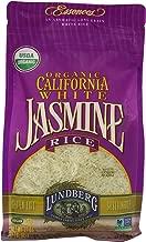 Lundberg Organic California White Jasmine Rice, 32 Ounce (Pack of 6)