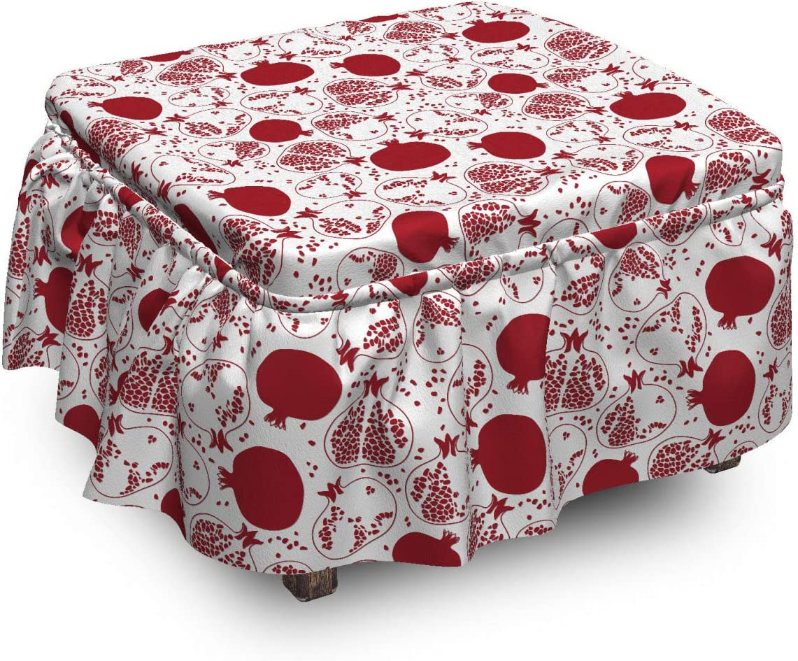 Lunarable Oriental Luxury Ottoman Product Cover Pomegranate Exotic P 2 Fruits