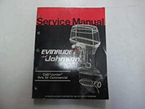 1987 Johnson Evinrude Colt/ Junior thru 55 Commercial Service Repair Manual ***
