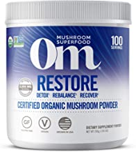 product image for Om Organic Mushroom Nutrition Supplement, Restore: Detox, Recovery, Energy, 100 servings, 7.14oz, 200 Gram