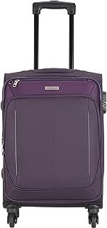 Aristocrat Polyester 69 cms Purple Suitcase (STKARW69PPL)