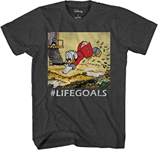 Disney Ducktales Scrooge Goals McDuck Duck Tales Vintage Classic Funny Logo Adult Mens Graphic Tee T-Shirt