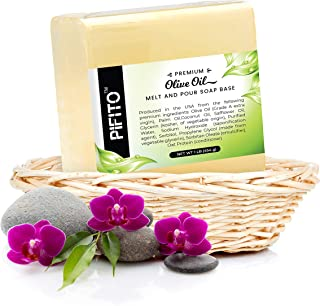 Pifito Olive Oil Melt and Pour Soap Base (2 lb) │ Premium 100% Natural Glycerin Soap Base │ Luxurious Soap Making Supplies