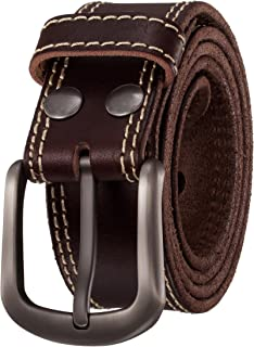 double layer leather belt