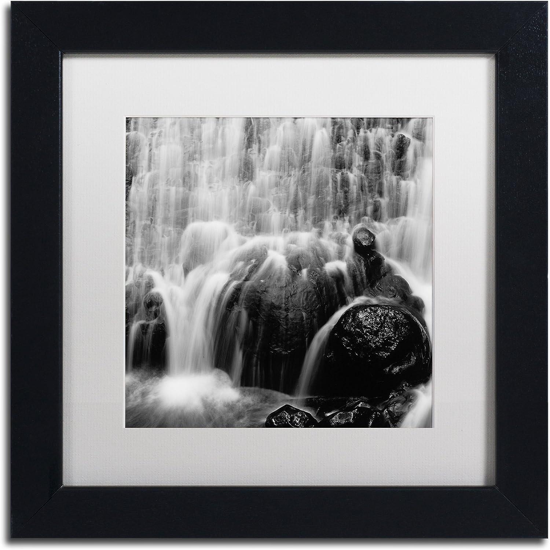 Trademark Fine Art Velo de Novia by Moises Levy in White Matte and Black Framed Artwork, 11 by 11Inch