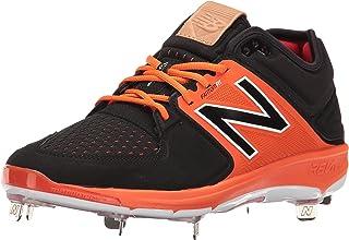 New Balance LowCut 3000v3 Mens Cushioning Metal Baseball Cleat Black-Orange