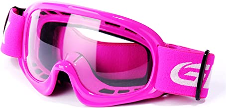 GLX GX08 youth & kids Motocross/ATV/Dirt Bike/Airsoft Safety Goggles, ANSI Z87.1 Certified (Pink) - Anti-Fog, UV Protection, Shatter-Proof
