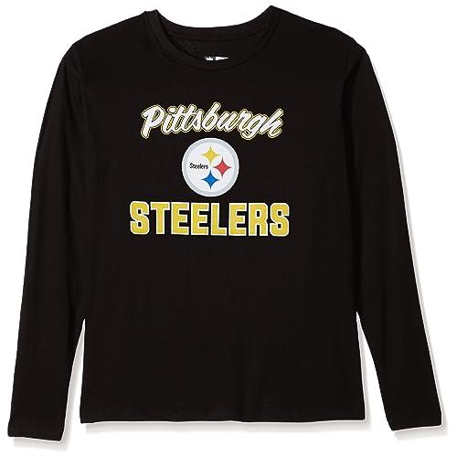 28f7933697f NFL Womens Steelers L/S Scoop Neck TEE