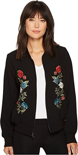 Karen Kane - Embroidered Bomber Jacket