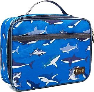 Piece BPA Free Blue NEW Smash Insulated Shark School Lunch Bag Box Kit 5