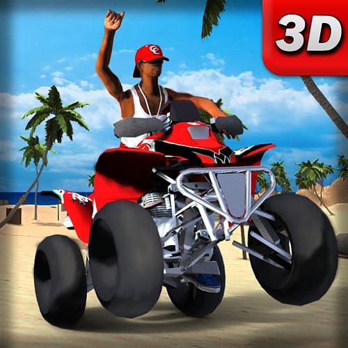 Offroad City Quad ATV Bike Stunt Driving Game: ATV Quad Bike Beach Racing Games 2020