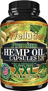 Hemp Oil Capsules XXL 2,000,000 - Ashawagandha and Melatonin Supplement - Anxiety, Stress, Joint, Lower Knee, Neck Pain Re...