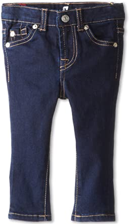 7 For All Mankind Kids Skinny Jean in Rinsed Indigo (Infant)