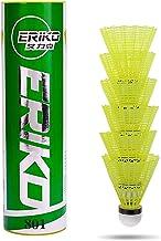 Volantes de nylon avanzados de 6 paquetes, pelotas de bádminton de velocidad media con gran estabilidad y durabilidad, pelotas de bádminton de alta velocidad para deportes al aire libre en interiores