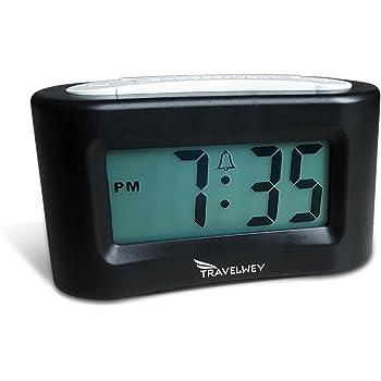 Simple Digital Travel Alarm Clock No Bells Battery Oper Silent No Whistles