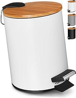 VMbathrooms 3L Poubelle Salle Bain | Poubelle à Pédale avec Fermeture Souple | Poubelle à cosmétiques au Design Élégant...
