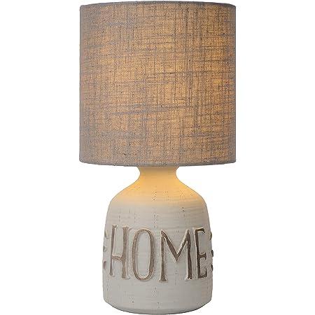 Lucide Cosby Lampe de table, Céramique, Gris, Ø 16,5 cm, E14, max 40 watts