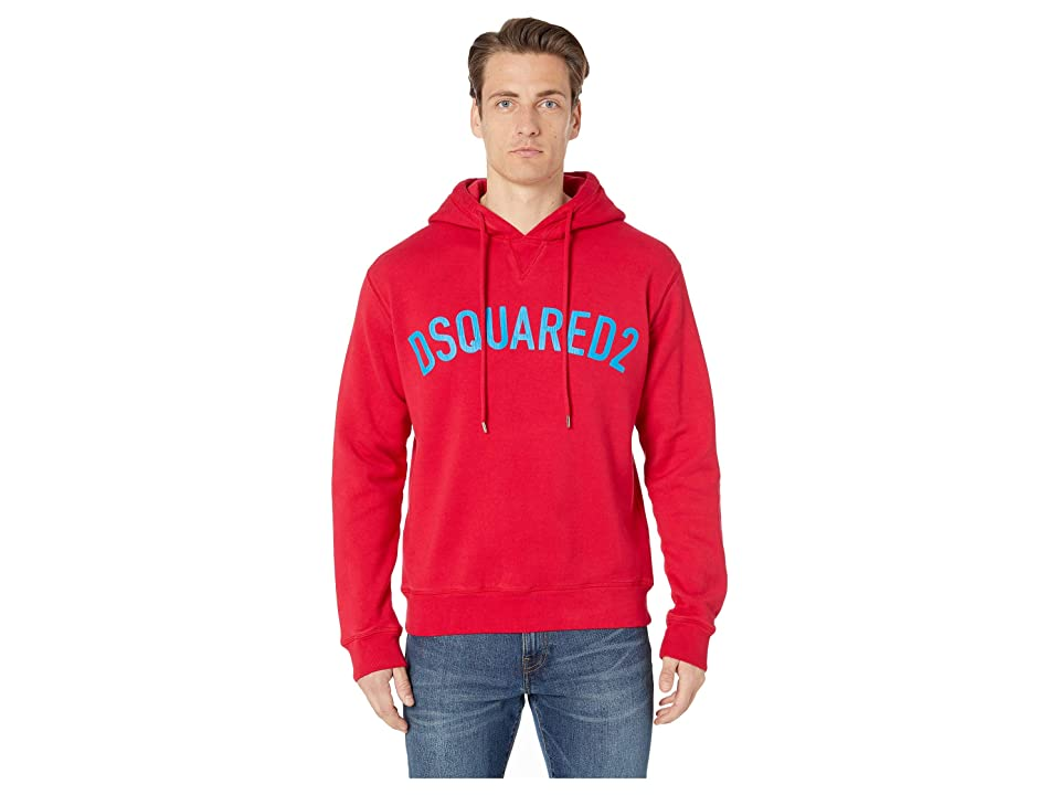 DSQUARED2 Cool Fit Hoodie (Red) Men