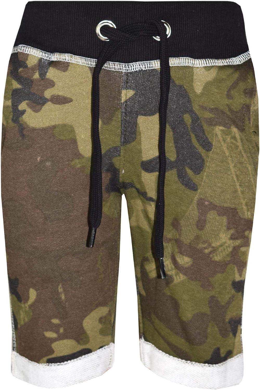 Kids Boys Shorts Fleece Camouflage Green Chino Short Knee Length Half Pant 3-13Y