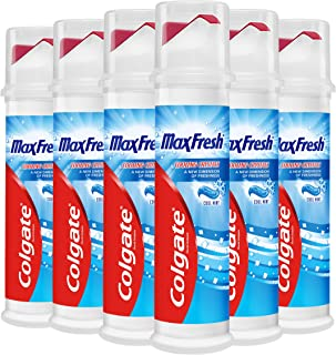 Colgate Max Fresh with Cooling Crystals Toothpaste Pump 6 x 100ml Multipack