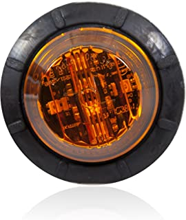 """Maxxima M09410Y Amber 1-1/4"""" Round LED Low-Profile Clearance Marker Light"""