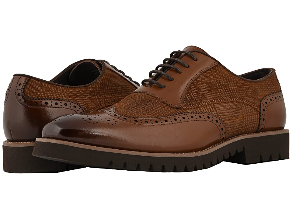 Mens Vintage Style Shoes & Boots| Retro Classic Shoes Stacy Adams Baxley Wingtip Lace Up Oxford Cognac Mens Shoes $105.00 AT vintagedancer.com
