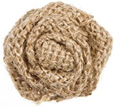Darice Burlap Rolled Canvas Roses, 9 Piece