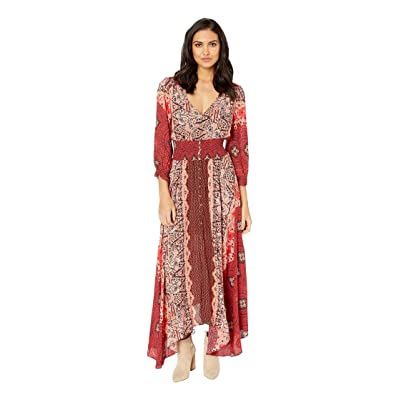 Free People Mexicali Rose Maxi Dress (Red) Women