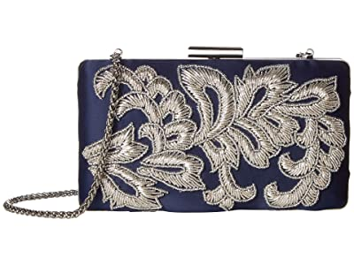 Adrianna Papell Vilma (Navy/Silver) Clutch Handbags