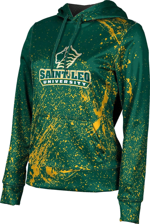 Saint Leo University Girls' Pullover Hoodie, School Spirit Sweatshirt (Splatter)