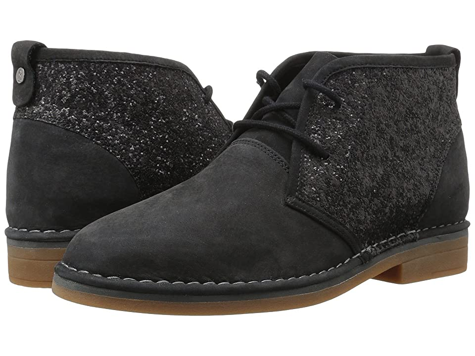 Hush Puppies Cam Catelyn (Black Glitter Nubuck) Women