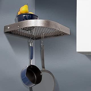 Enclume Premier Large 16-Inch Corner Pot Rack, Hammered Steel