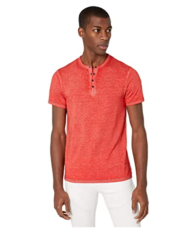 Buffalo David Bitton Kasum Short Sleeve Split Neck Henley (Cruise) Men