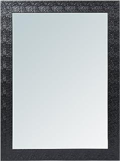 999Store Fiber Framed Decorative Wall Mirror or Bathroom Mirror Black (24x18 Inches)