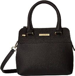 Saffiano Leather Mini Top Zip Crossbody 62634311259