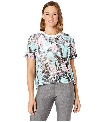 Nike Sportswear Hyper Femme Short Sleeve All Over Print (Topaz Mist/White) Women