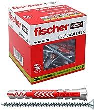 fischer 538246 DUOPOWER 8x65 S, grijs/rood