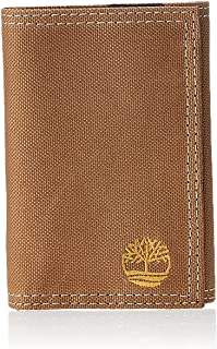 Carteira Masculina Timberland de nylon dobrável, Khaki, Tamanho Único