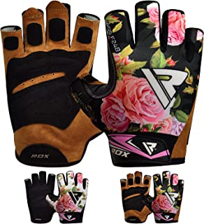 RDX Women Weight Lifting Gloves for Gym Workout - Breathable with Anti Slip Palm Protection - Great for Ladies Fitness, Strength Training, Bodybuilding, Powerlifting, Cycling & Exercise