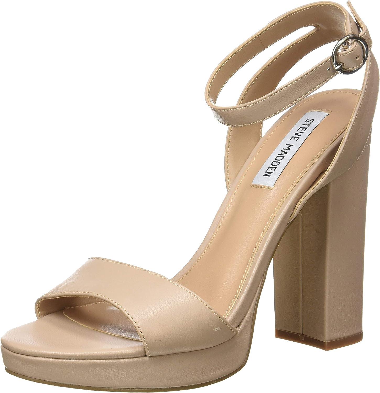 Steve Madden Women's Gesture Heeled Sandal, Blush