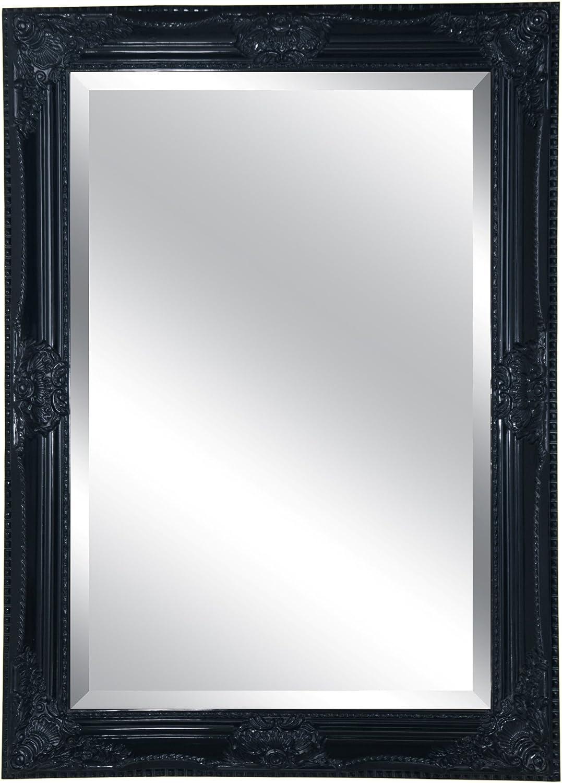 Lofty Mercer Mirror, 30 by 42-Inch, Black Finish