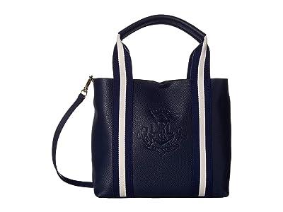 LAUREN Ralph Lauren Huntley Harper 27 Small Tote (Navy) Handbags